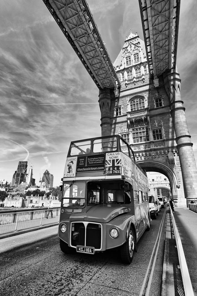 Routemaster on Tower Bridge