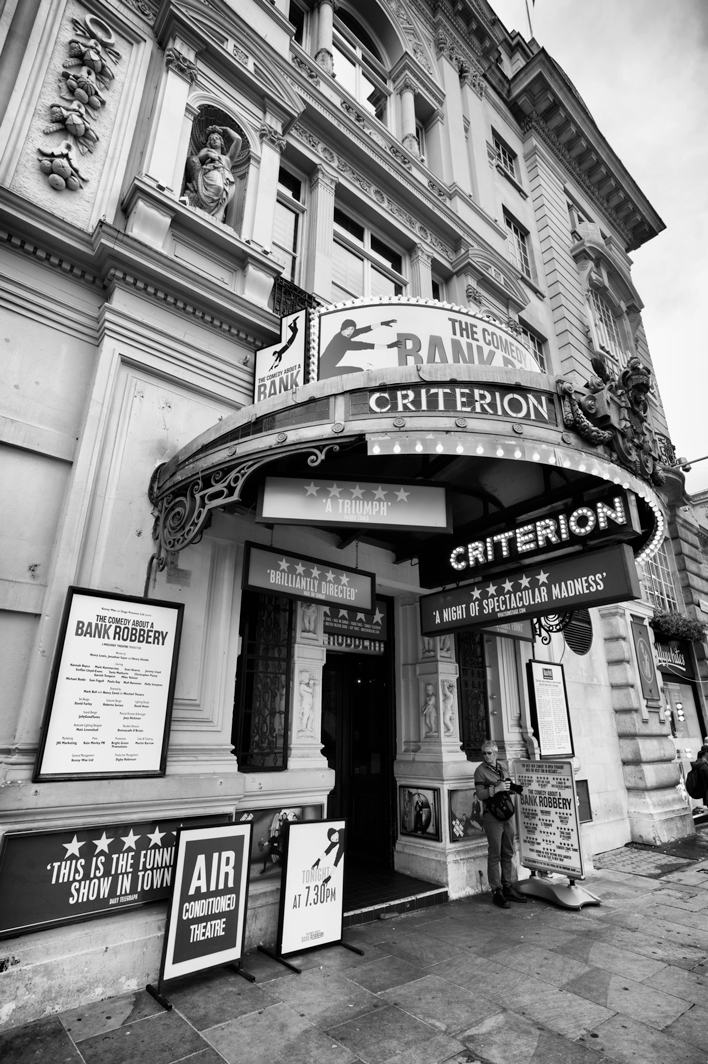 The Criterion Theatre is a West End theatre at Piccadilly Circus in the City of Westminster, and is a Grade II listed building.