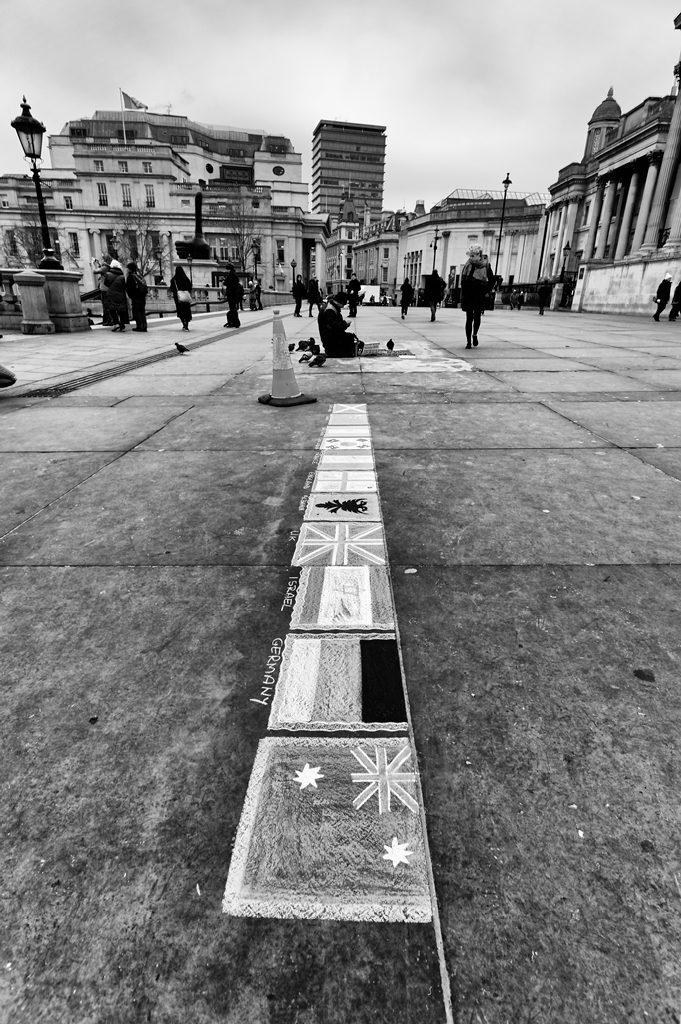 Trafalgar Square Street Art Flags