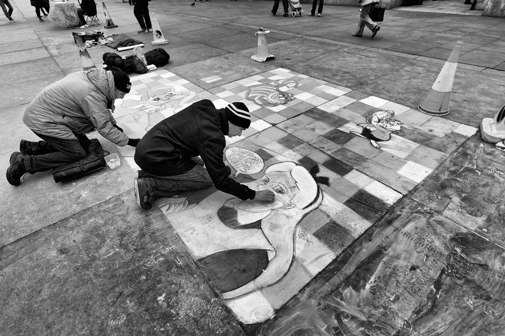 Trafalgar Square Street Art