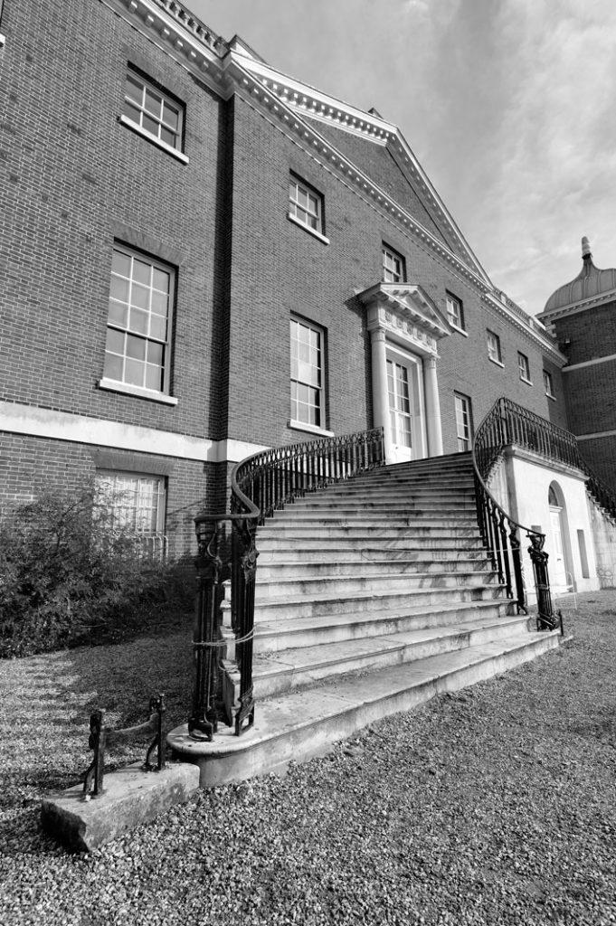 Osterley House Garden steps portrait